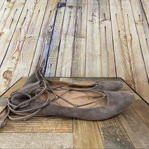 Steve Madden tuape lace up ballet flats size 10